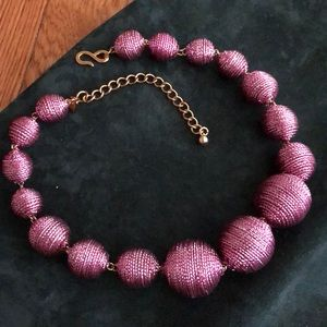 Kenneth Jay Lane choker of metallic wrapped beads.